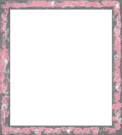 vintage photo: frame or border  for scrapbooking and collage crafts  Stock Photo