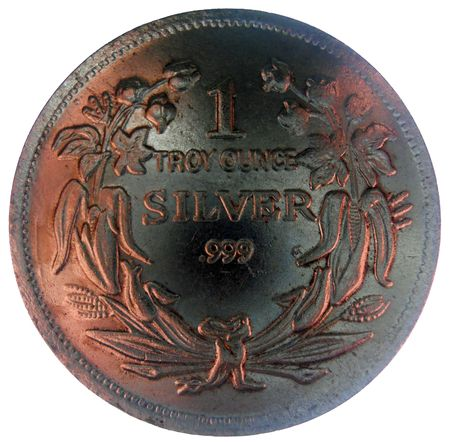 minted:    reverse side of 1 troy ounce seated liberty coin in excellent condition