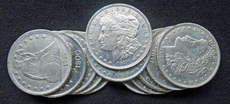 all in: monedas de plata de 1800 en excelentes condiciones  Foto de archivo