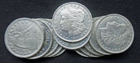 silver coins from 1800's all in excellent condition         Stock Photo - 8190254