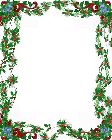 Christmas Frame For Scrapbooking Crafts Stock Photo, Picture And ...