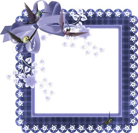 vintage photo: frame for scrapbook and collage crafts Stock Photo