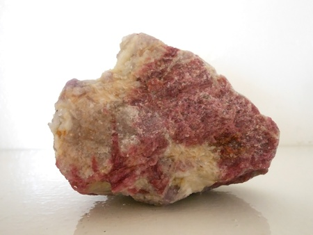 rubellite: watermelon tourmaline rough natural and untreated Stock Photo