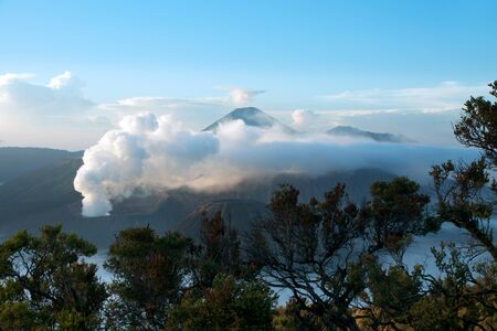 Mount Bromo, an active volcano and part of the Tengger Semeru National Park in East Java, Indonesia.