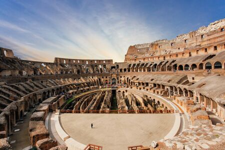Interior of Coliseum - Rome Stockfoto
