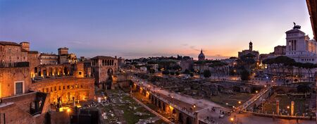 Trajan's forum - Rome 免版税图像