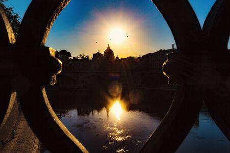 Saint Peter through an iron frame