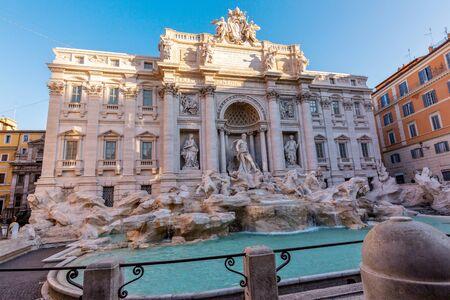 Trevi's fountain - Rome 免版税图像