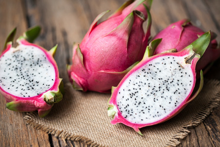 Dragon Fruit on the wooden background