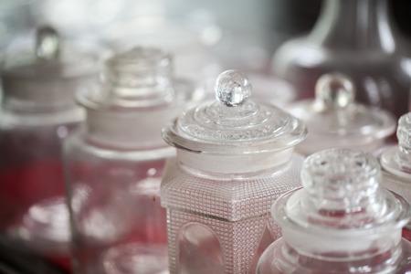 BARWARE: Vintage glass bottle