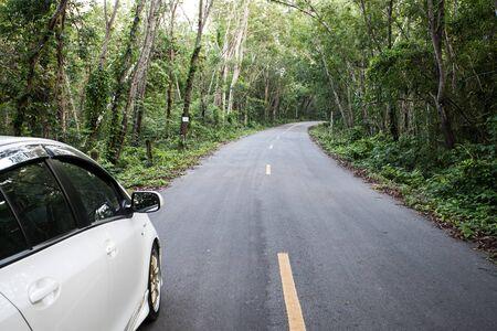 Scenic Forest Road In Californië De Sierra Nevada. Gebogen Bosweg In De  Zomer. Royalty-Vrije Foto, Plaatjes, Beelden En Stock Fotografie. Image  32170084.