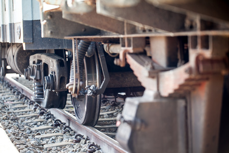 freight train: wheels train on the track
