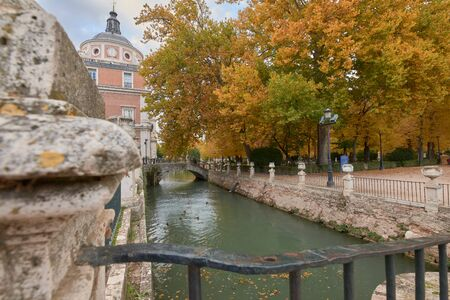 The Royal Palace of Aranjuez and the Tajo river. Madrid. Spain