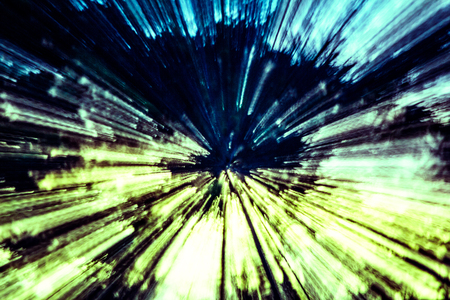 reminding: Creative abstract artistic background reminding of a burst full of dynamics and colour Stock Photo