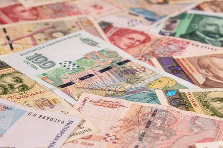 A composition of Bulgarian lev banknotes providing great options to be used for illustrating subjects as business, banking, media, presentations etc.