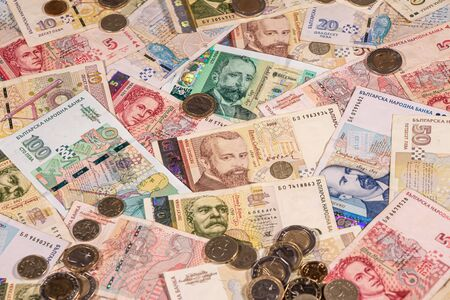 A composition of Bulgarian lev banknotes and coins providing great options to be used for illustrating subjects as business, banking, media, presentations etc. Stock fotó