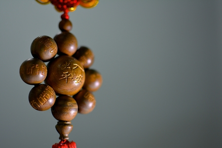 talisman: stock photo chinese amulets talisman on black background