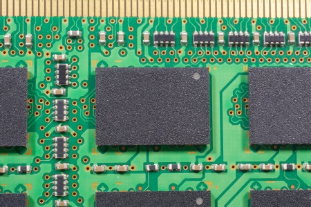 Stock Photo, Close up printed electronics and Circuit chipsets photo
