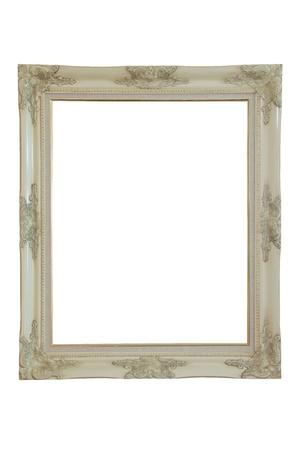 wedding photo frame: cornice in legno. isolato su bianco