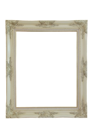 wooden picture frame. isolated on white  photo