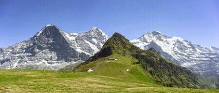 Alpine peaks in the Swiss mountains