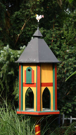 Luxury Villa for birds; nesting box in spring  summer,  feeding grounds in winter  photo