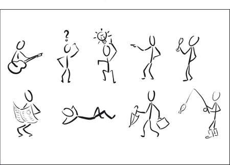 bonhomme allumette: Stickmans comme les pictogrammes