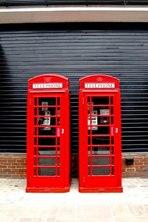 Telephone box in England photo
