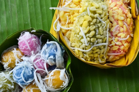 Colorful Thai traditional dessert