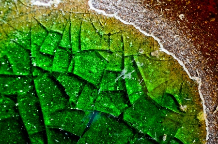 Green glass texture