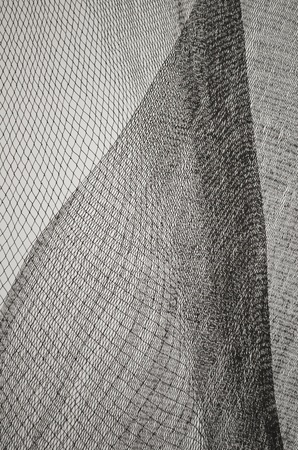 Black and White net texture vertical Stock Photo