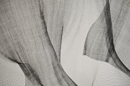 Black and White net texture horizontal photo