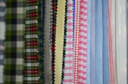 Wide range of fabrics samples photo