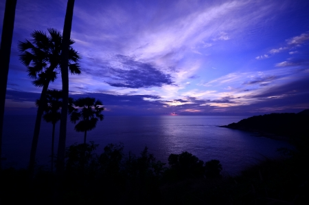 Sunset at Phromthep cape, Phuket, Thailand photo