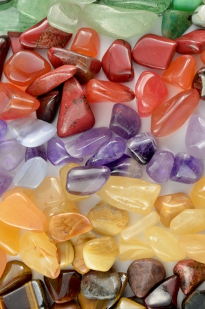 Close up color stones photo