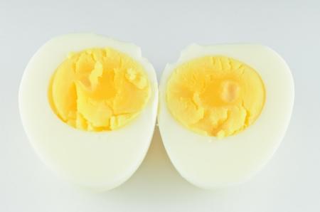 Shell boiled egg isolated on white background