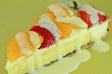 A delicious mixed fruit tart photo