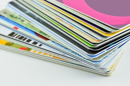 MEMBERSHIP: Stack of cards used on a daily basis