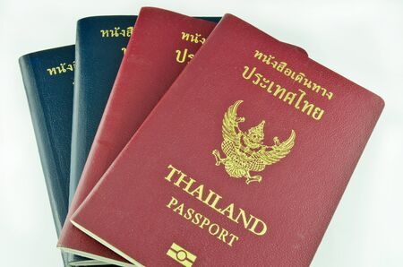 Thai passport and official passport isolated photo