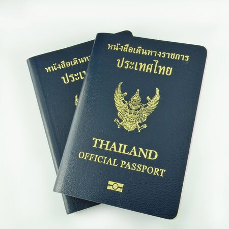 Thai official passport isolated photo
