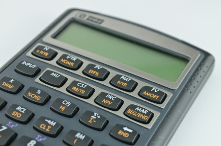 Financial calculator isolated photo