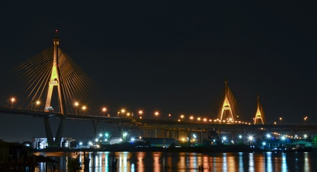 Bhumibol Bridge, Bangkok, Thailand Stock Photo - 15937221