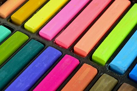 Color chalk pastels Stock Photo - 16027105