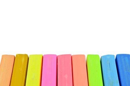Color chalk pastels Stock Photo - 16027104