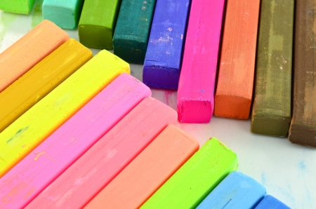 Color chalk pastels Stock Photo - 16027101