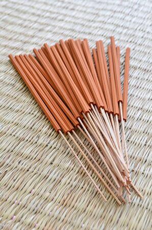 incense sticks: Incense sticks on the mat