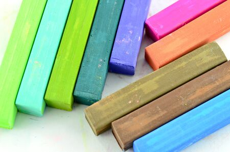 Color chalk pastels Stock Photo - 16129853