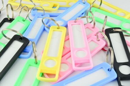 Colorful key chain with space for text isolated Stock Photo - 16327482