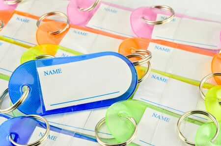 Colorful key chain with space for text Stock Photo - 16435083