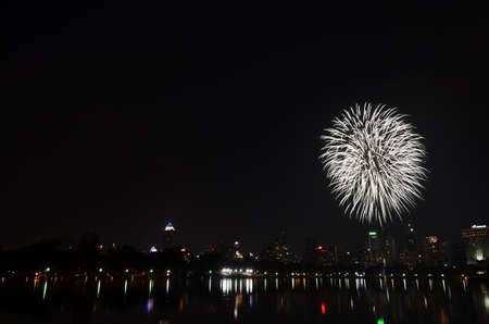 Fireworks in Bangkok, Thailand Stock Photo - 17083700